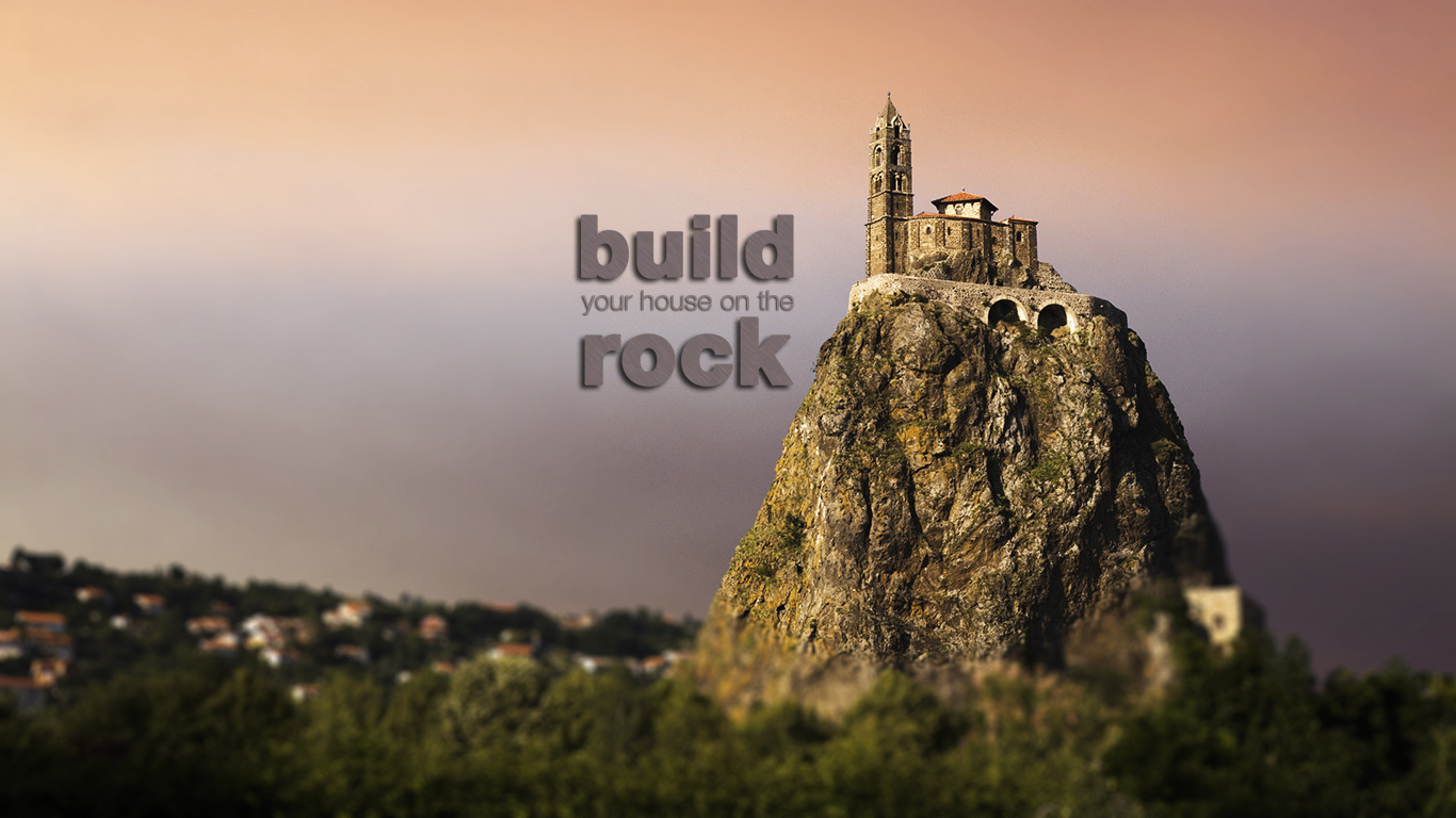 The rock christian wallpapers for Cost to build a house in little rock