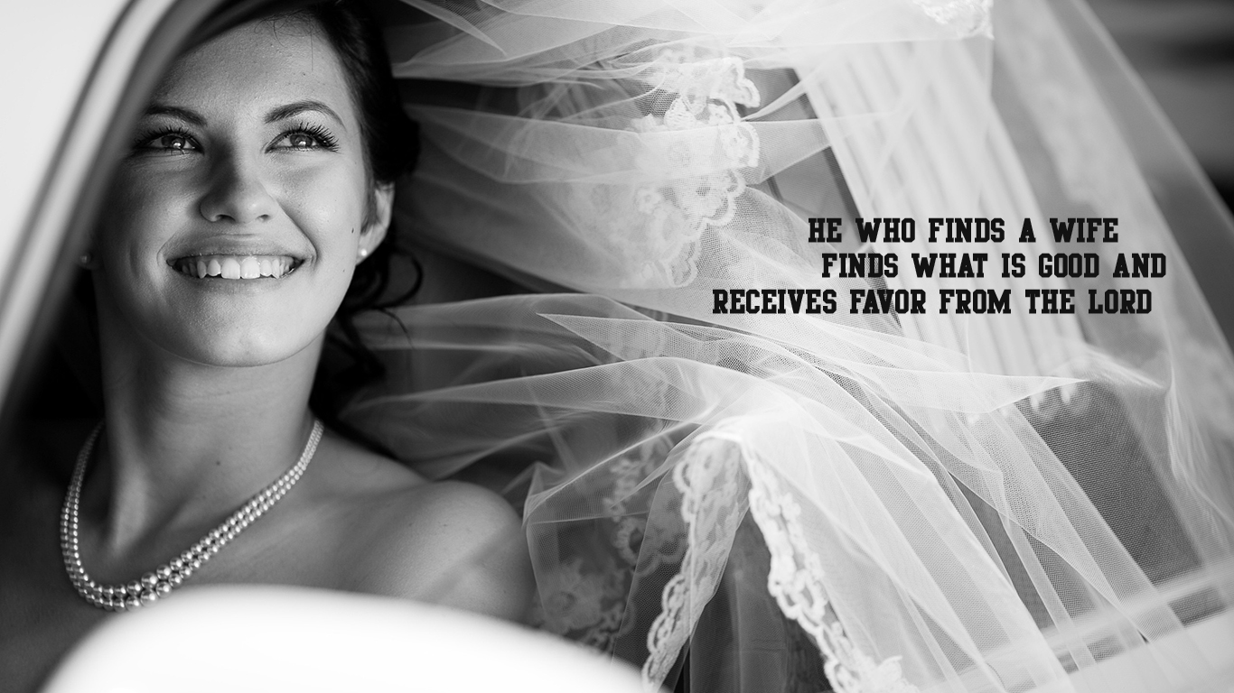 who finds wife what is good favor from Lord bride car christian wallpaper hd_1366x768