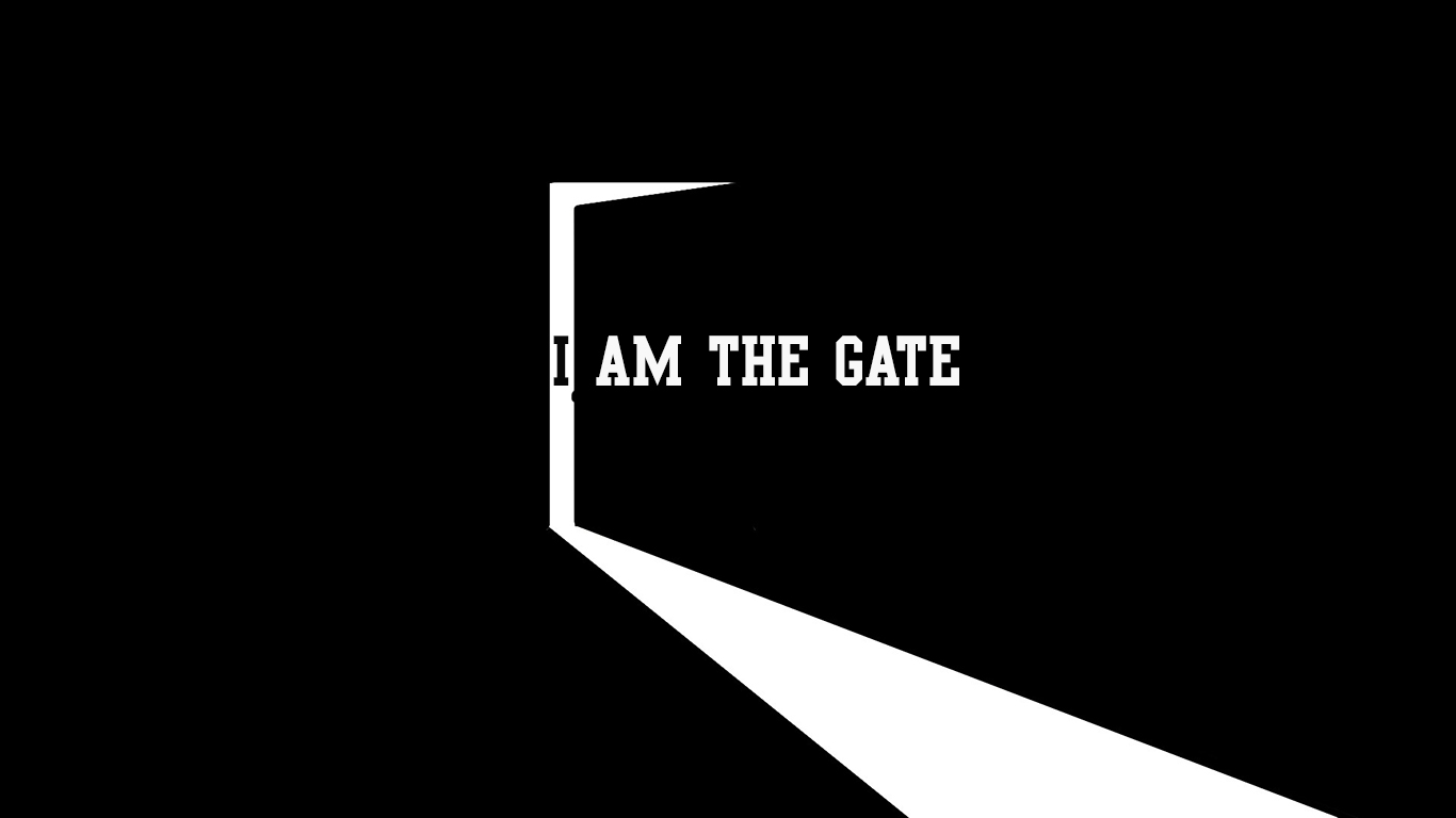 I am the gate door Jesus christian wallpaper hd_1366x768