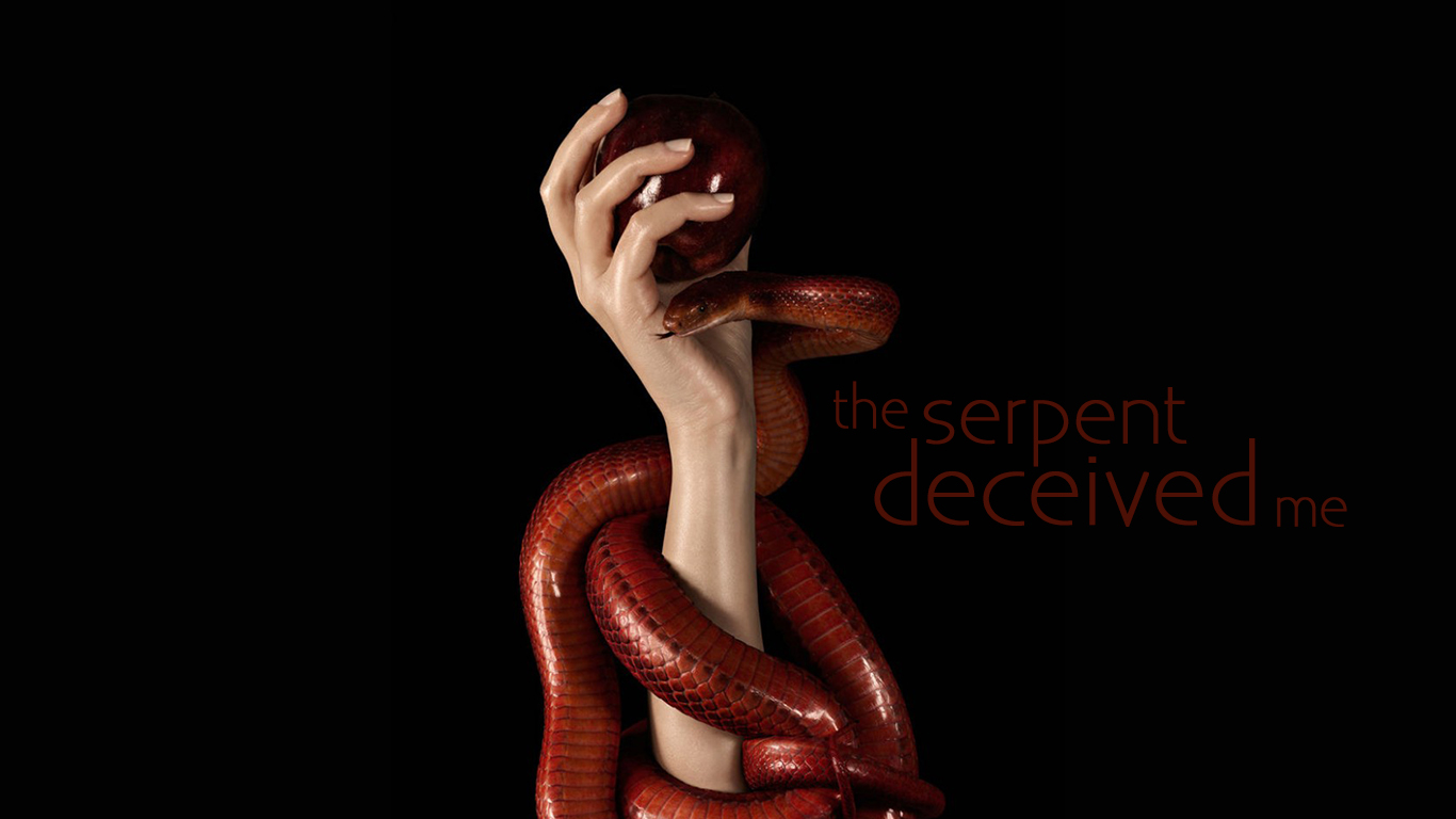 the serpent deceived me arm apple christian wallpaper hd_1366x768