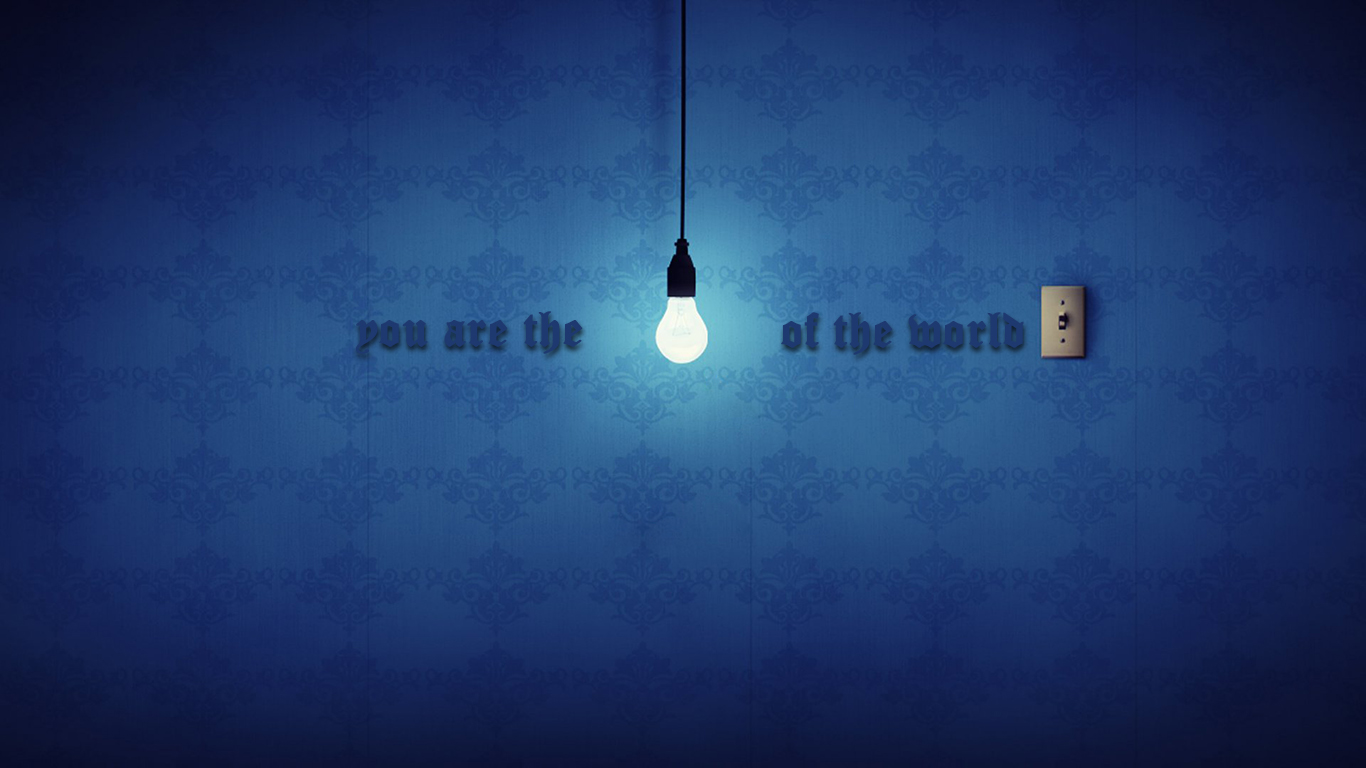 you are the light of the world lamp christian wallpaper hd_1366x768