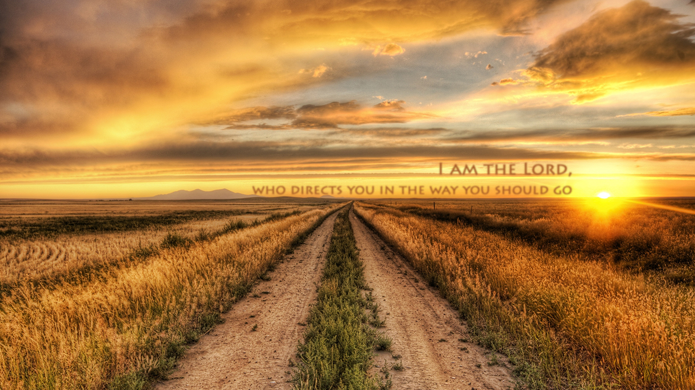 I am the Lord who directs you in the way you should go road sun christian wallpaper hd_1366x768