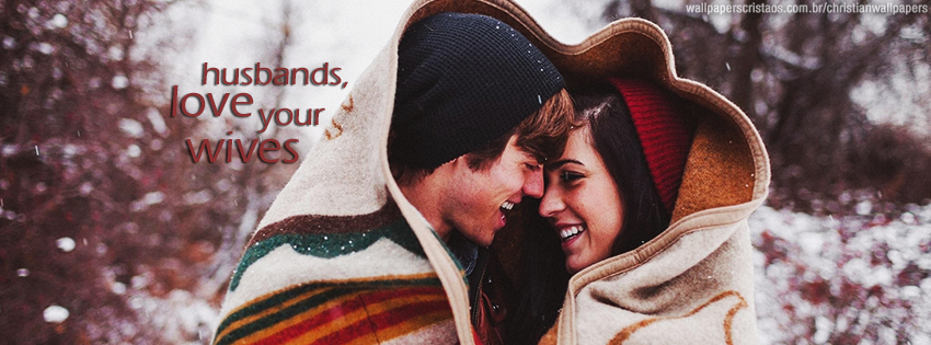 Husbands Love Your Wives Couple Snow Christian Wallpaper Hd 1366x768 Resolution