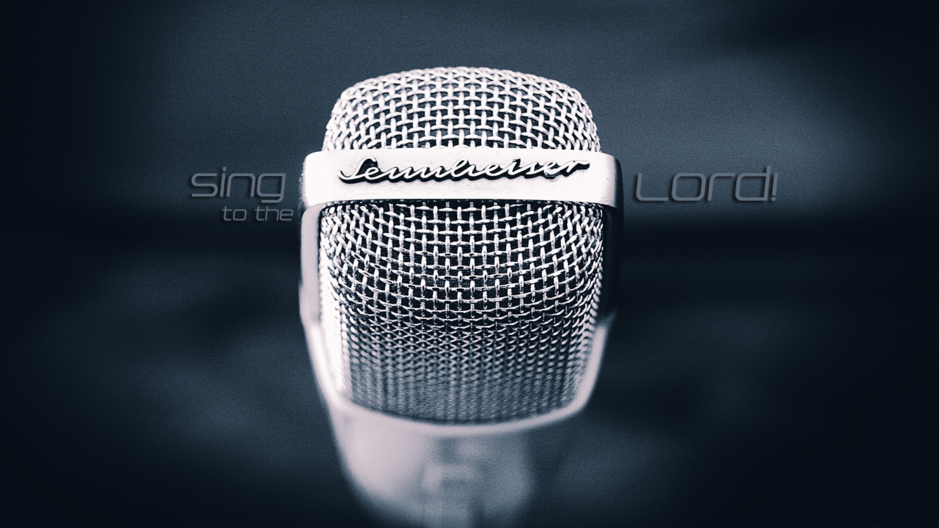 microphone sing to the Lord christian wallpaper hd_1366x768