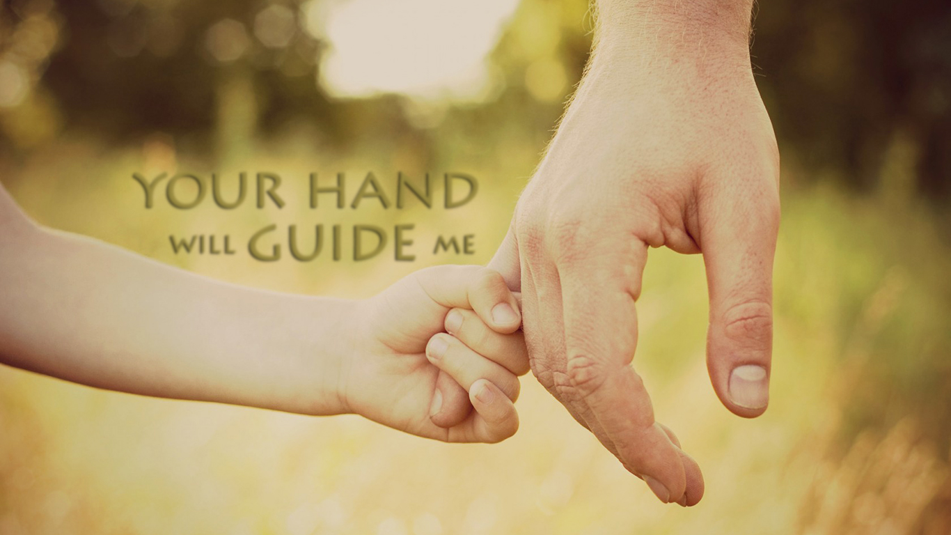 your hand will guide me christian wallpaper hd_1366x768