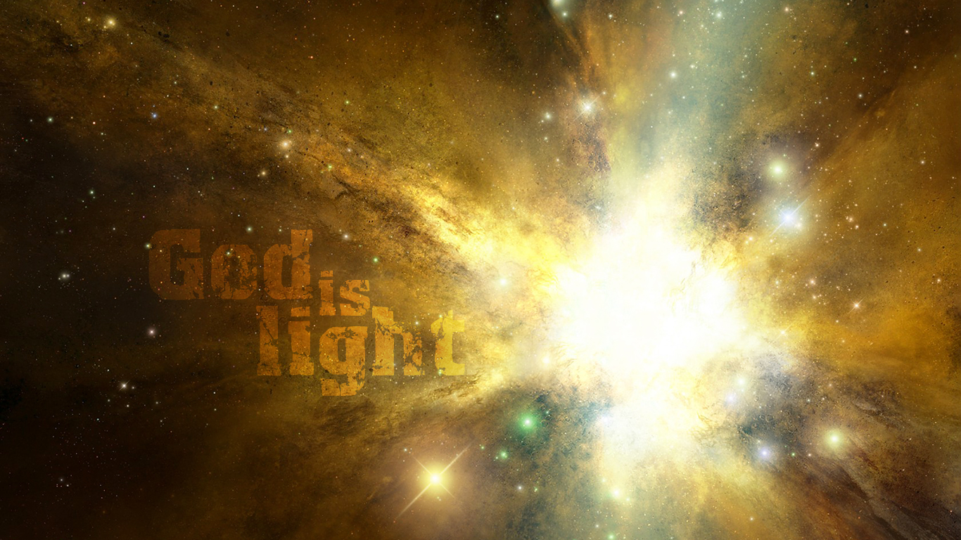 God is light in him there is no darkness at all christian wallpaper_1366x768