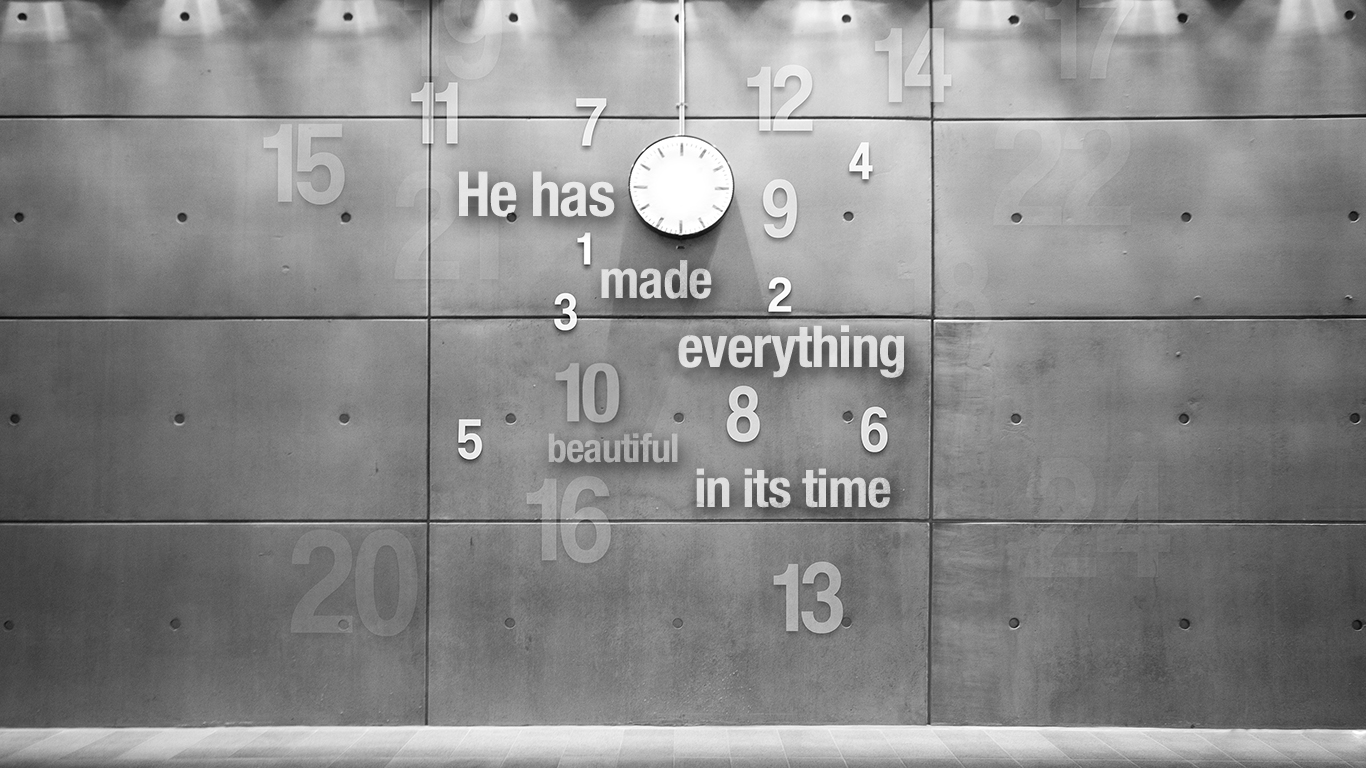 He has made everything beautiful in its time clock christian wallpaper hd_1366x768
