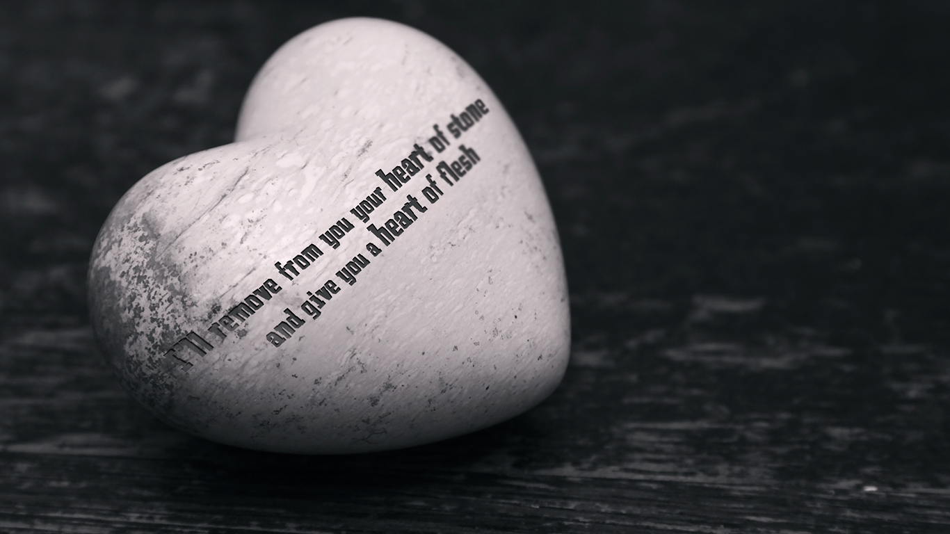 I will remove from you your heart of stone and give you a heart of flesh christian wallpaper_1366x768