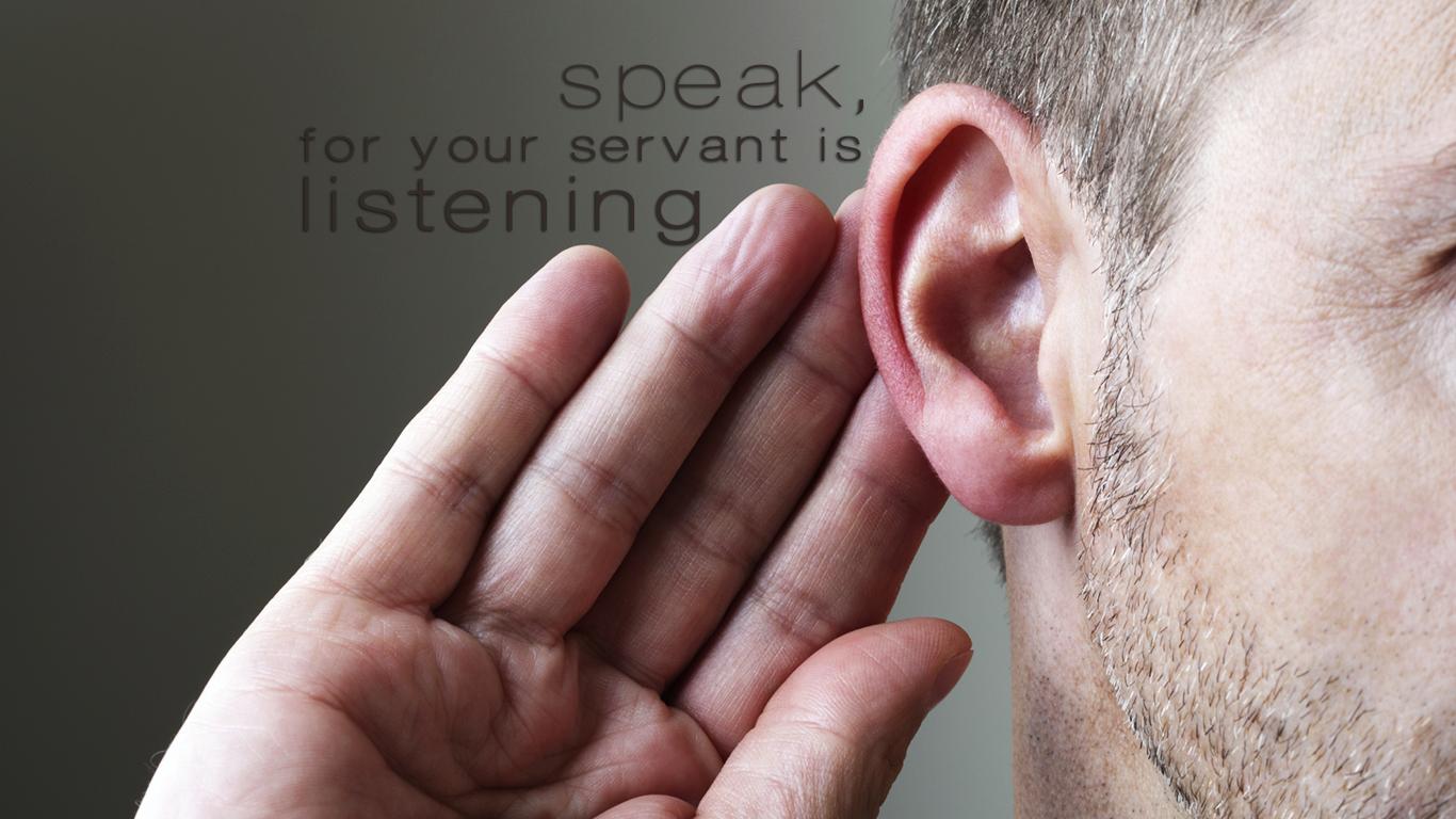 speak  for your servant is listening christian wallpaper hd_1366x768