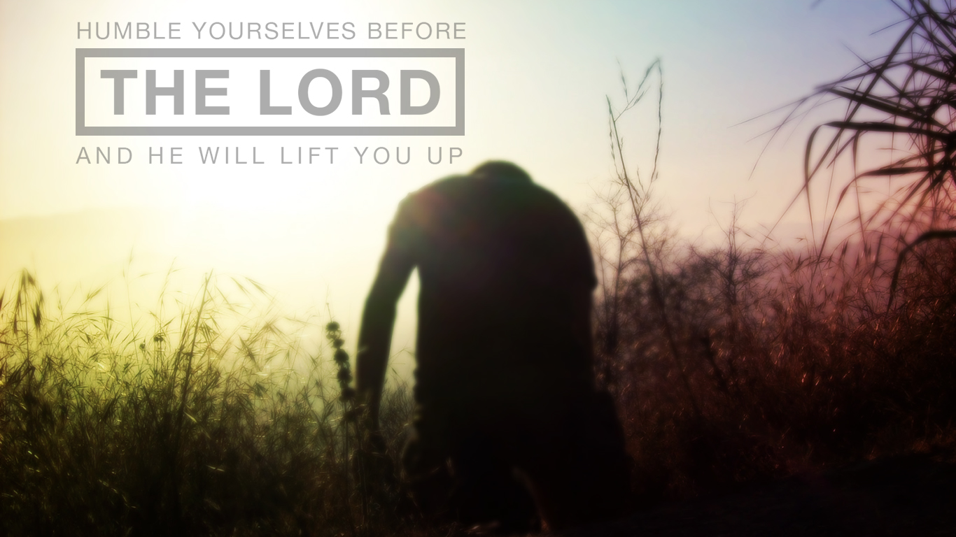 humble yourselves before the Lord christian wallpaper hd_1366x768
