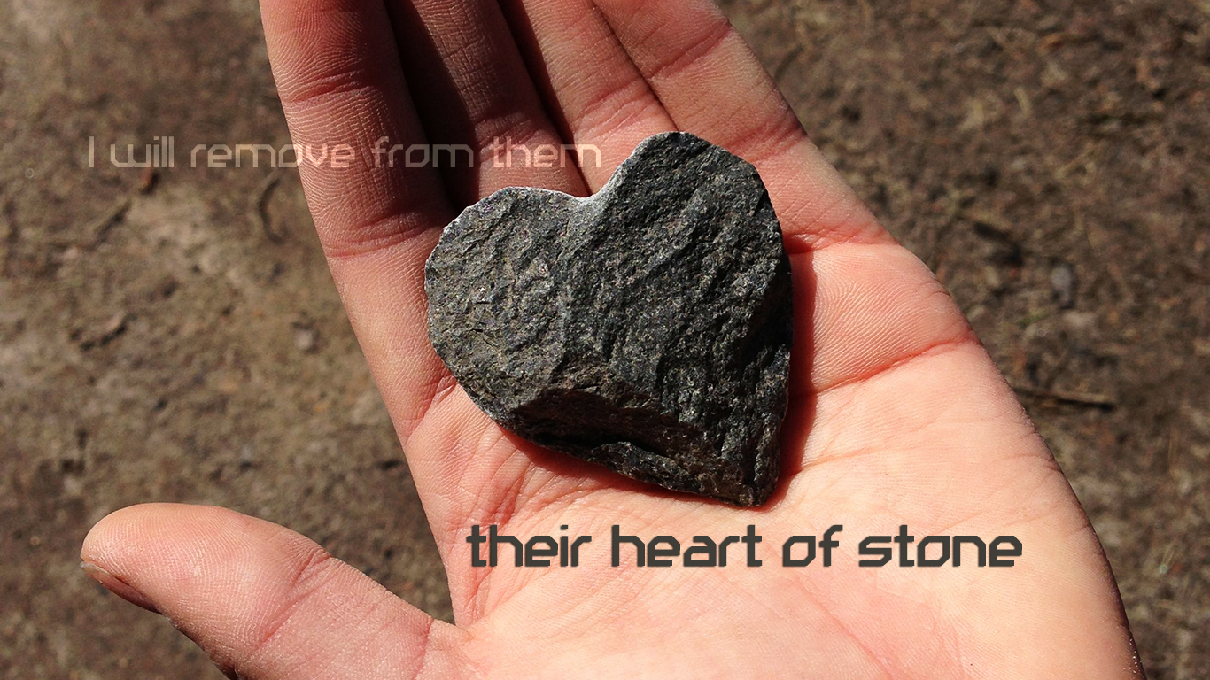 I will remove from them their heart of stone christian wallpaper_1366x768