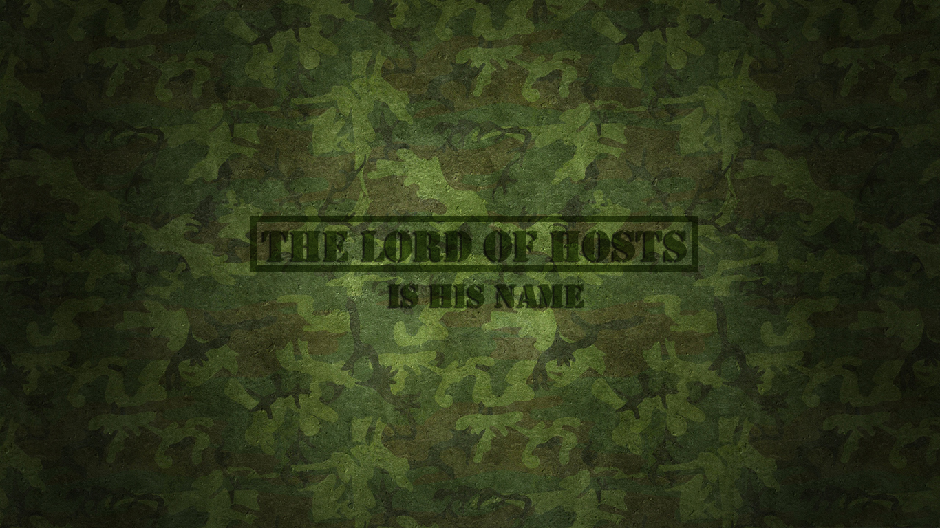 The Lord of hosts is his name christian wallpaper hd_1366x768