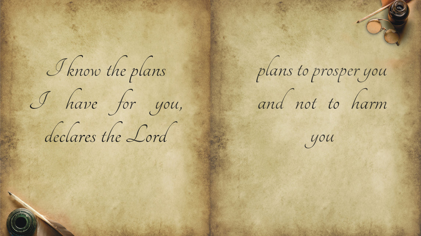 I know the plans I have for you declares the Lord christian wallpaper_1366x768