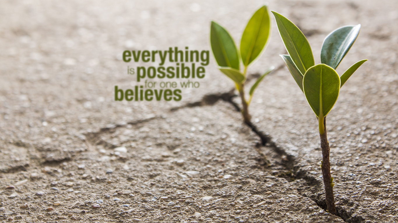Image result for everything is possible when one believes