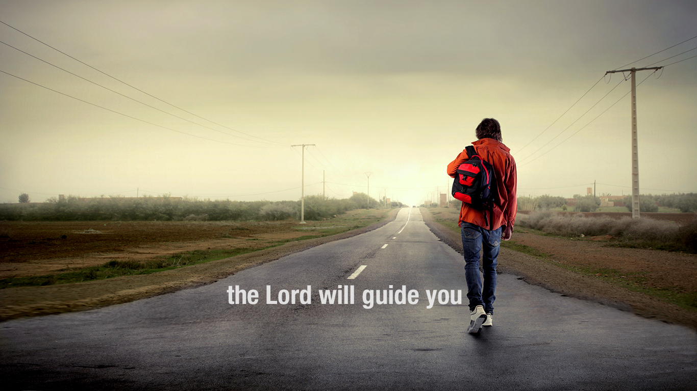 the Lord will guide you road christian wallpaper hd_1366x768