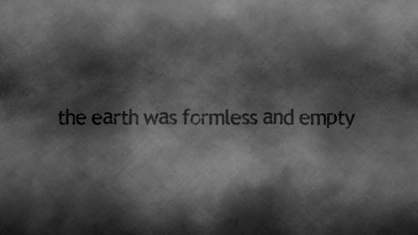 the earth was formless and empty christian wallpaper hd_1366x768