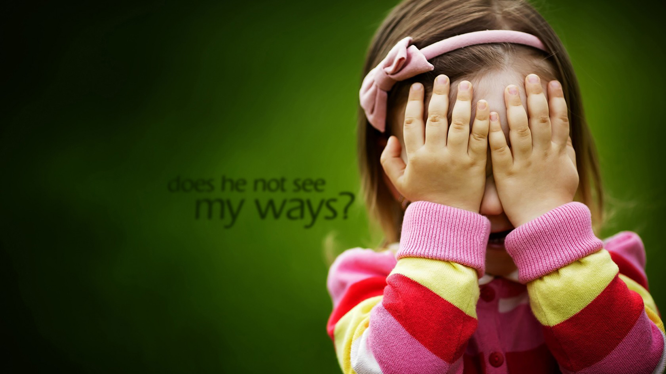 does he not see my ways christian wallpaper hd_1366x768