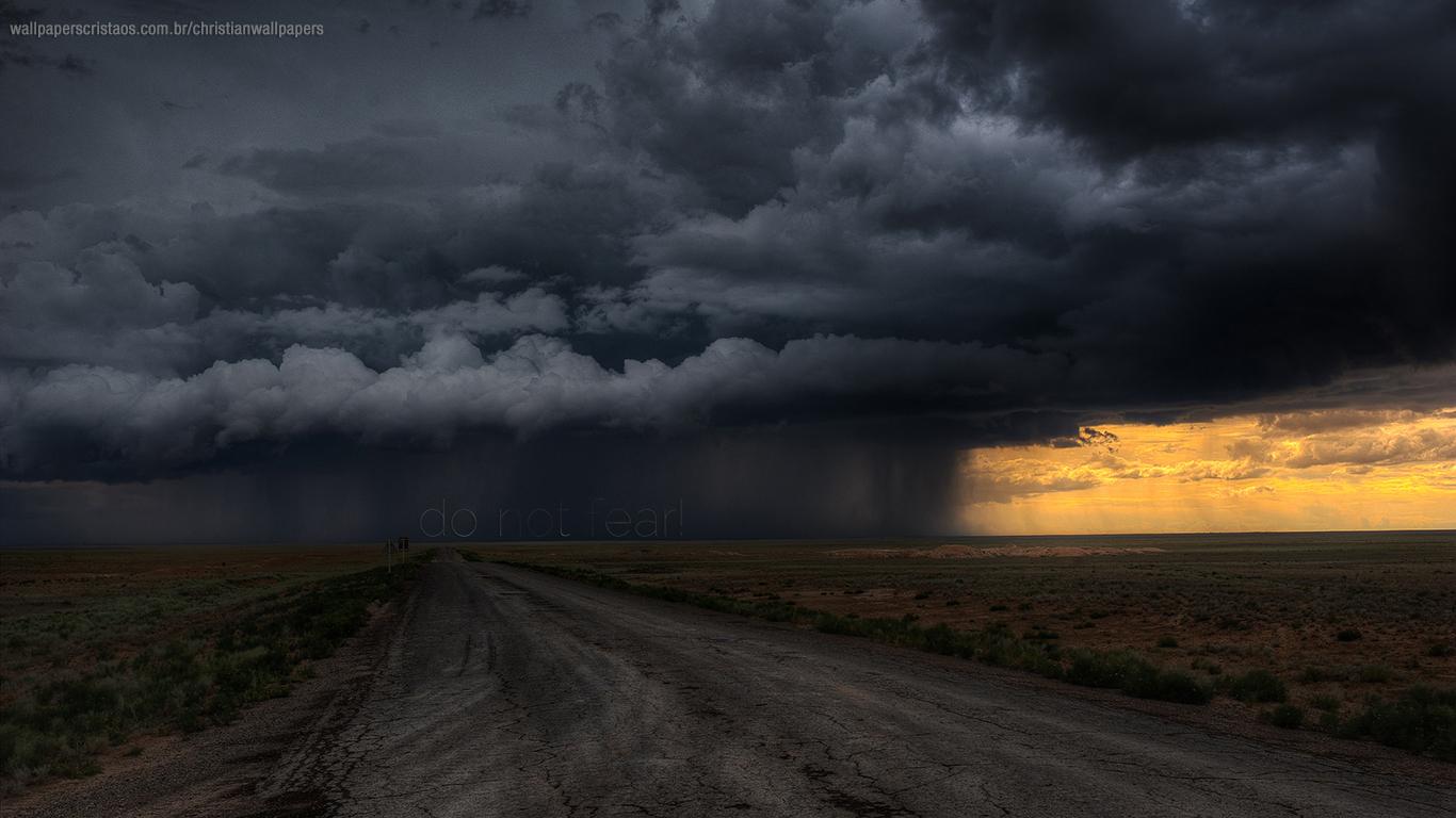 do not fear storm road christian wallpaper hd_1366x768