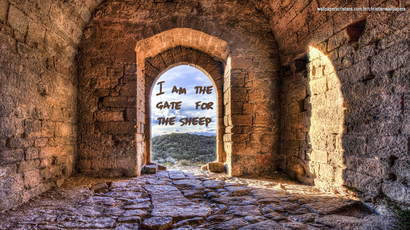 I am the gate for the sheep christian wallpaper hd_1366x768