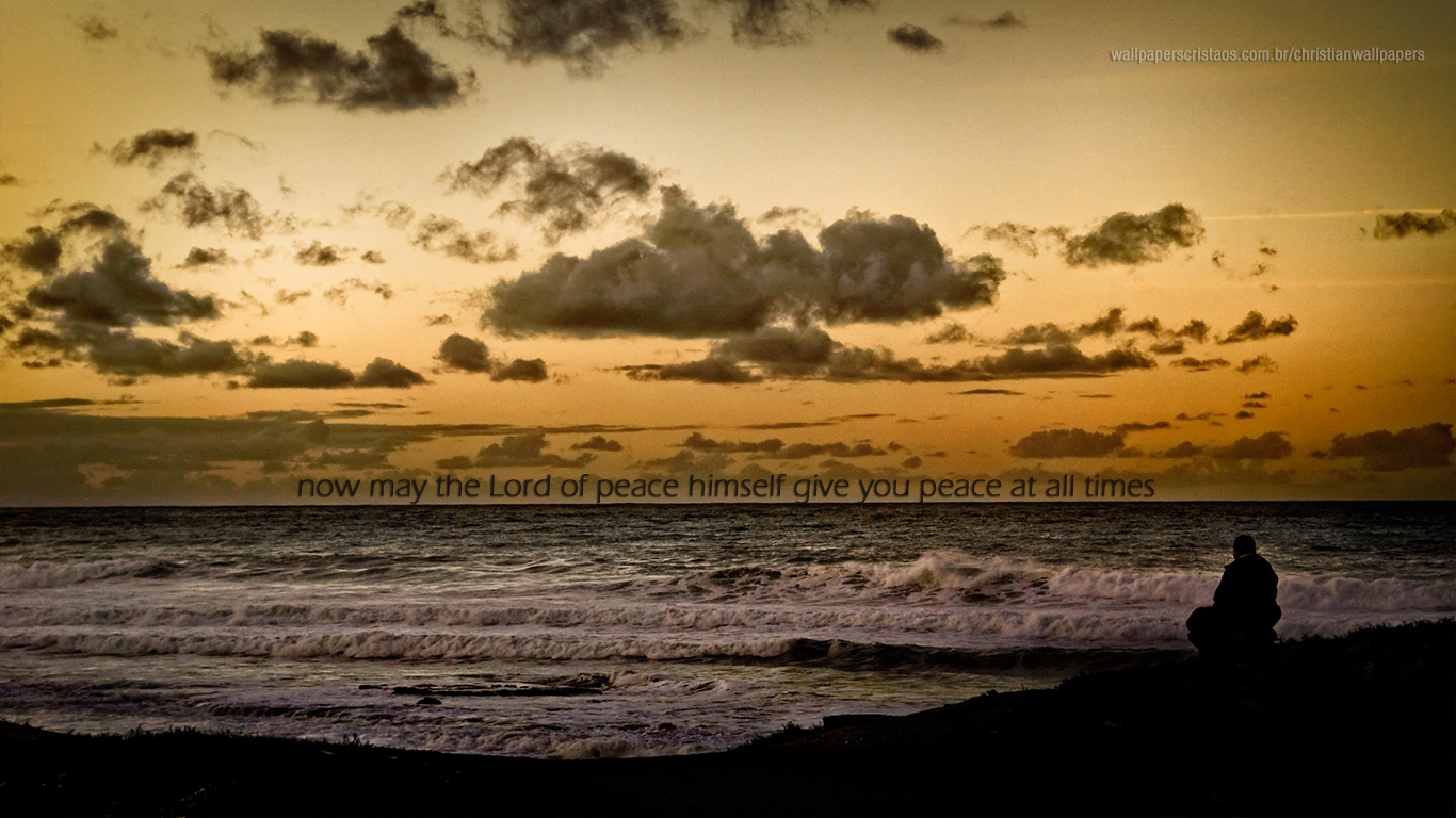 Lord peace himself give you peace at all times christian wallpaper hd_1366x768