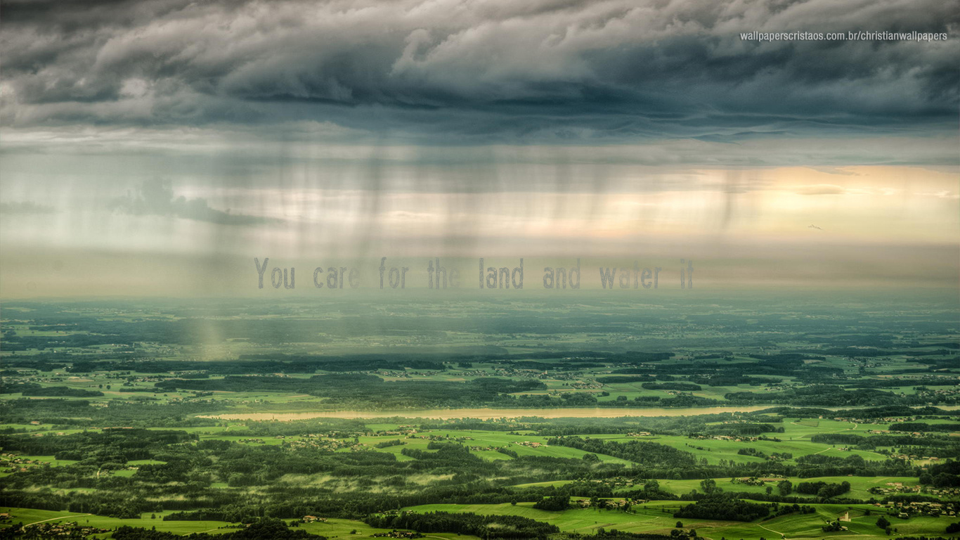You care for the land and water it christian wallpaper hd_1366x768