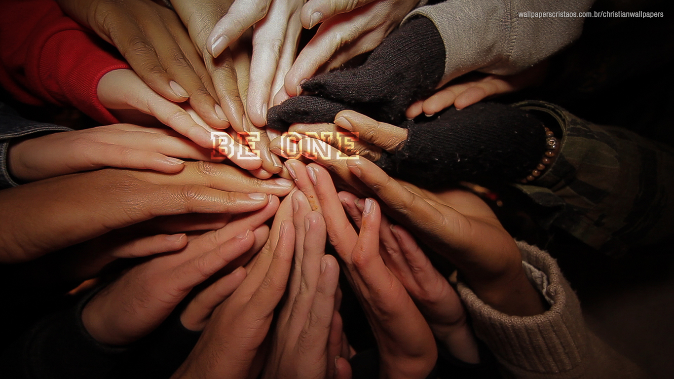 be one hands  together christian wallpaper hd_1366x768
