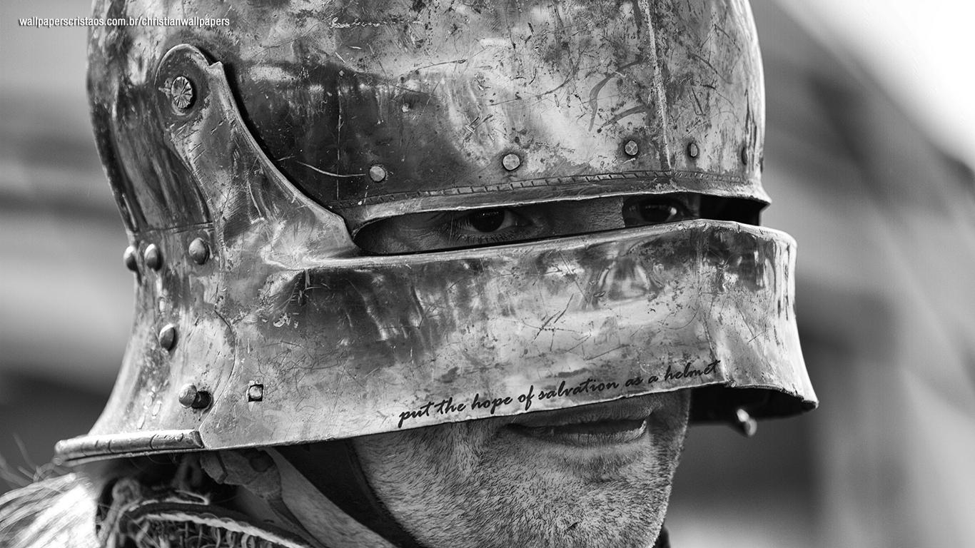 put the hope of salvation helmet christian wallpaper hd_1366x768