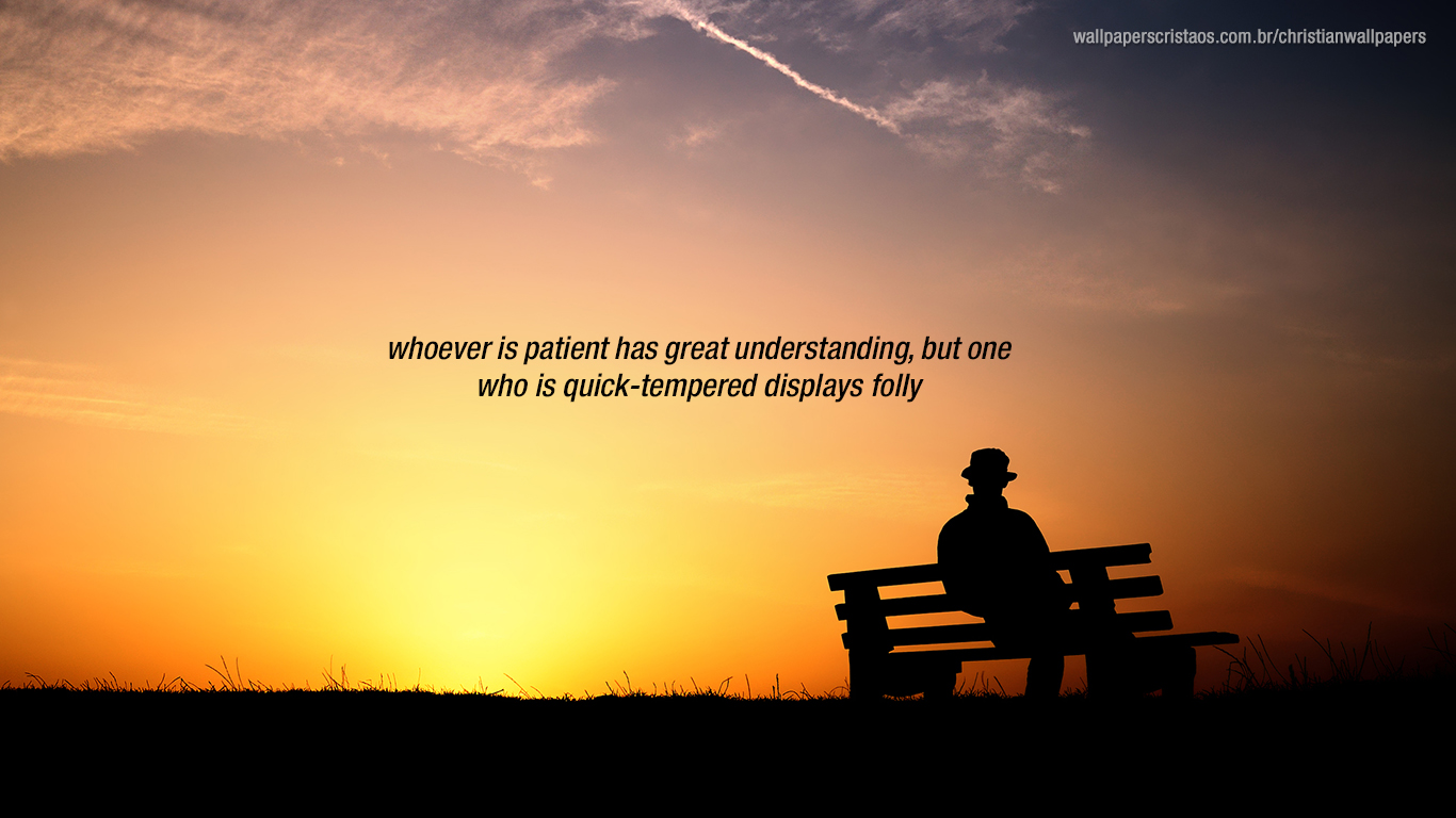 whoever patient quick tempered christian wallpaper_1366x768