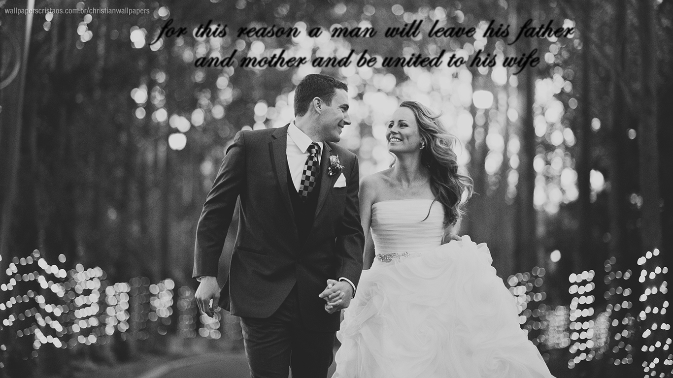man will leave father mother wife couple christian wallpaper hd_1366x768