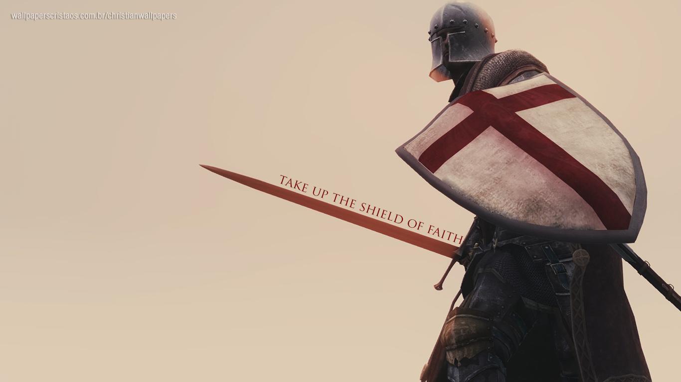 take up the shield of faith christian wallpaper hd_1366x768