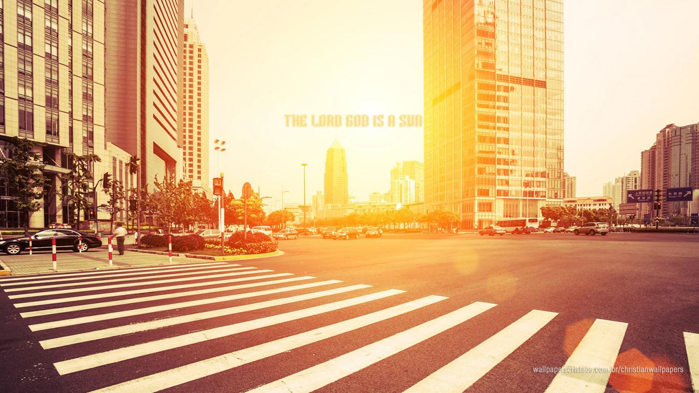 the Lord God is a sun christian wallpaper hd_1366x768