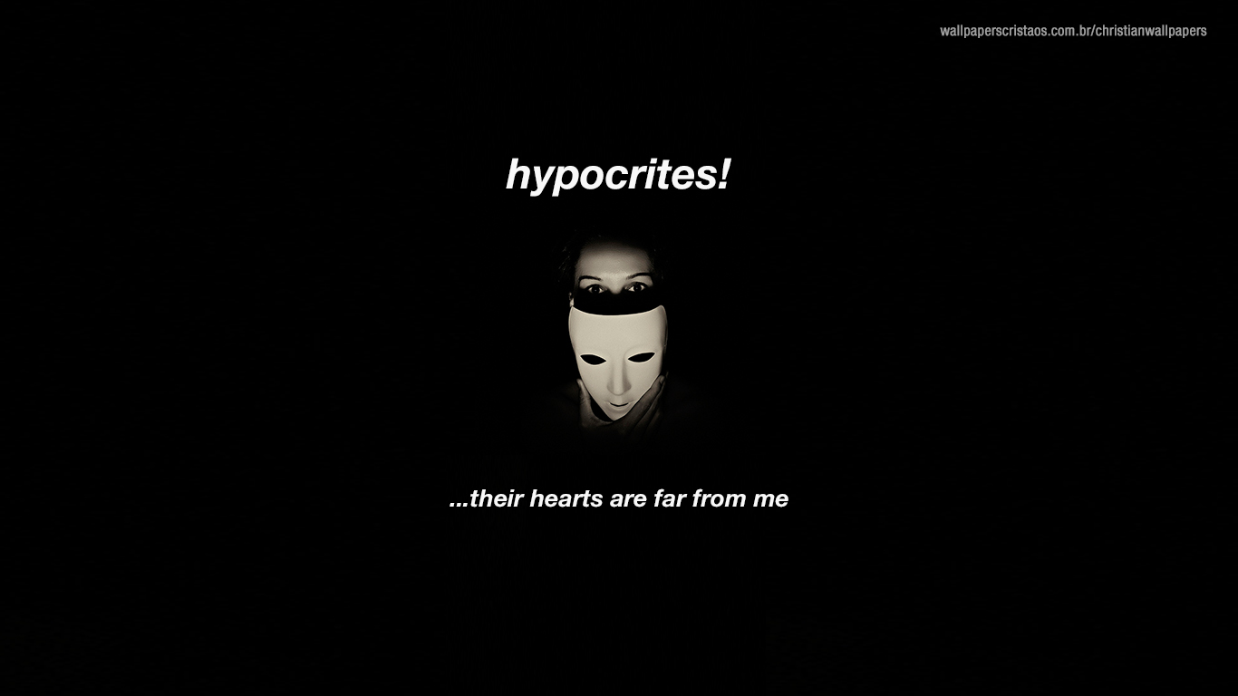 hypocrites mask christian wallpaper_1366x768
