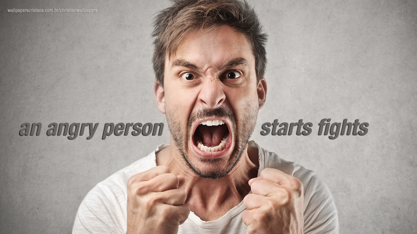 an angry person starts fights christian wallpaper hd_1366x768