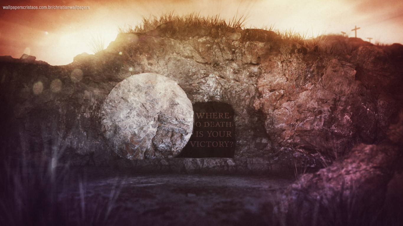 Where, O death, is your victory christian wallpaper_1366x768