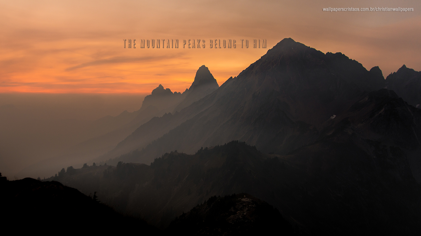 the mountain peaks belong to him christian wallpaper hd_1366x768