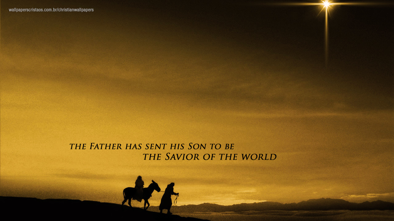 Father has sent his Son to be Savior world christian wallpapers_1366x768