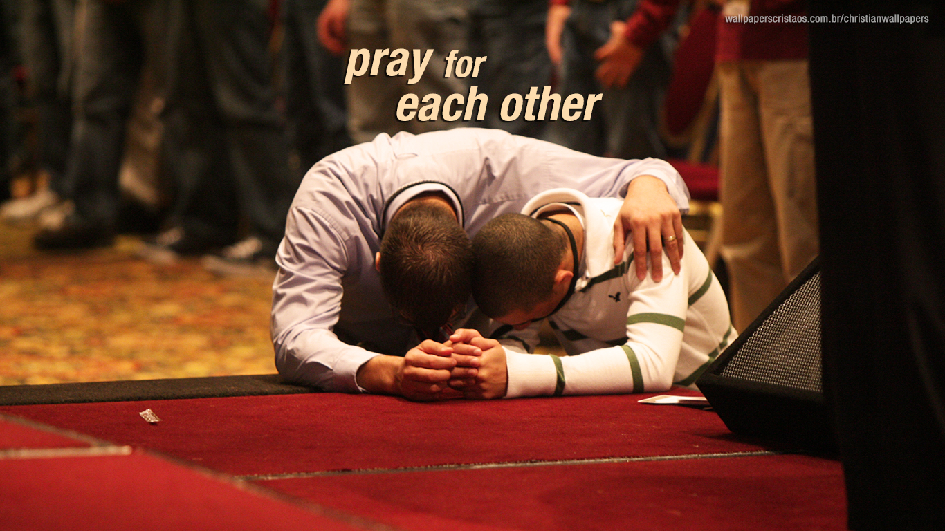pray for each other christian wallpaper hd_1366x768