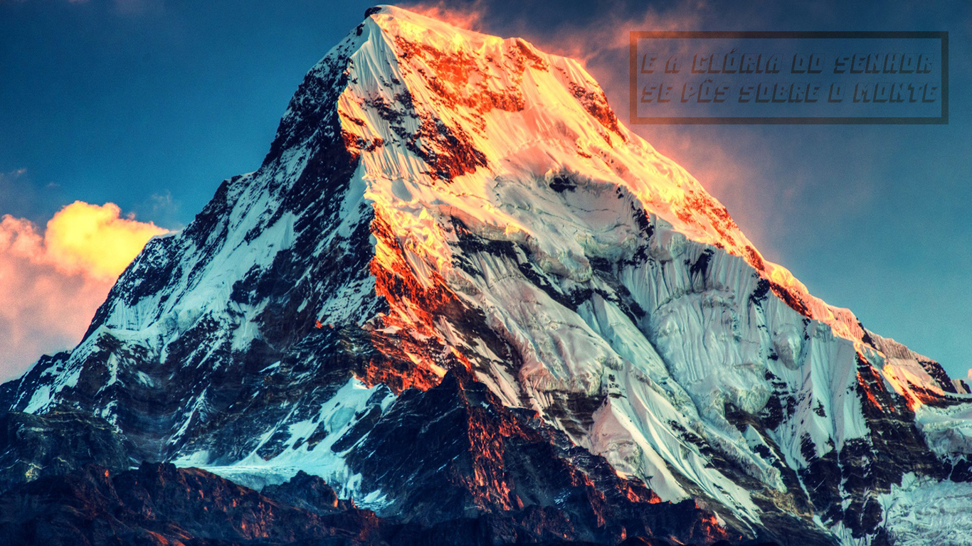 wallpaper cristao hd glória Senhor pôs sobre monte_1366x768