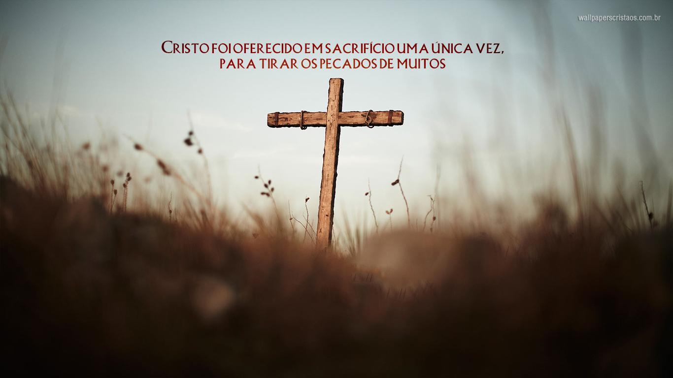 wallpaper cristao hd Cristo foi oferecido sacrifício uma única vez cruz_1366x768