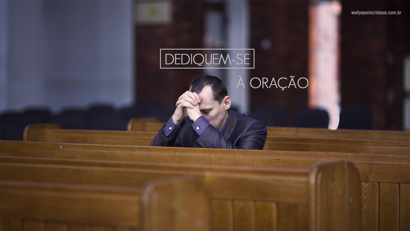 Man praying in church